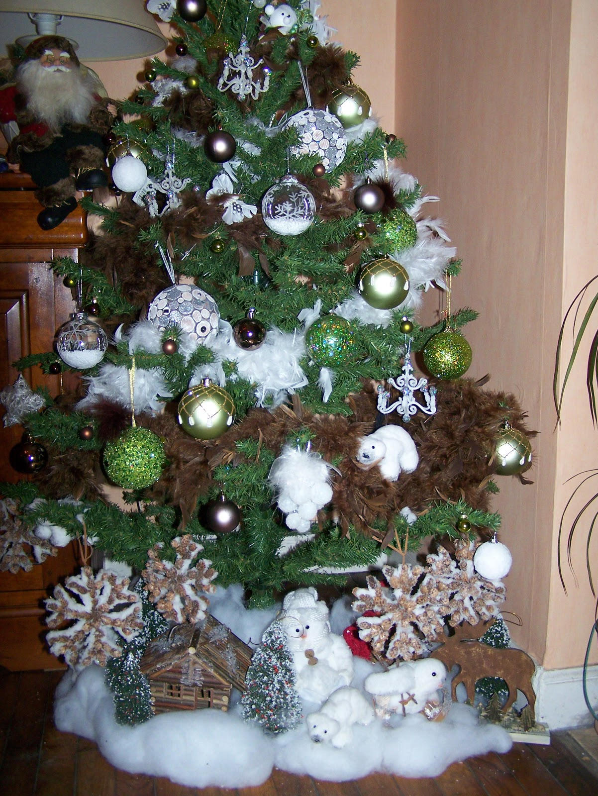 Anelore scrap cie no l 2008 chez mes parents sapin for Decorer un sapin de noel