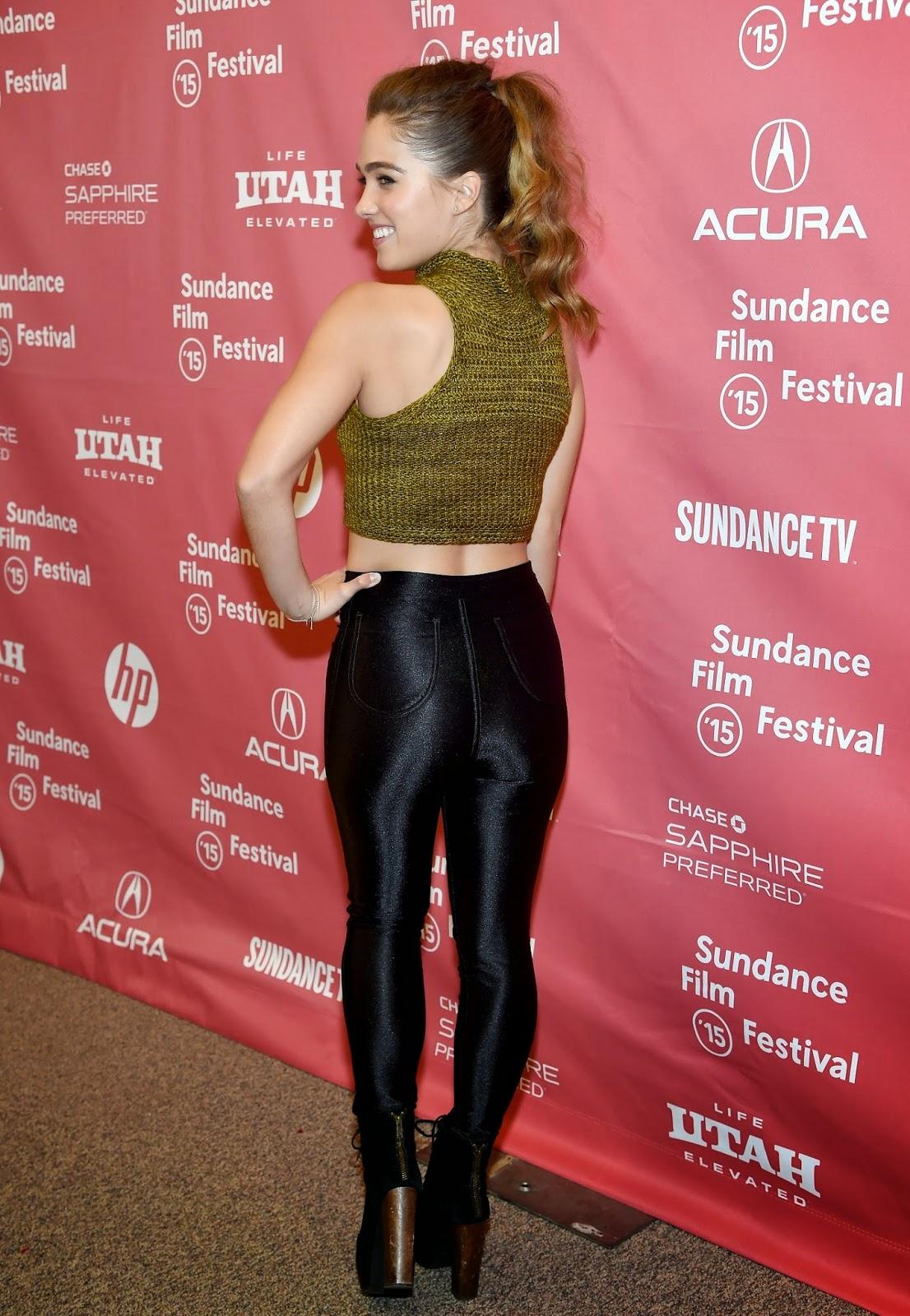 الممثلة الأمريكية هالي لو ريتشاردسون في العرض البرونزي في مهرجان صندانس في بارك سيتي