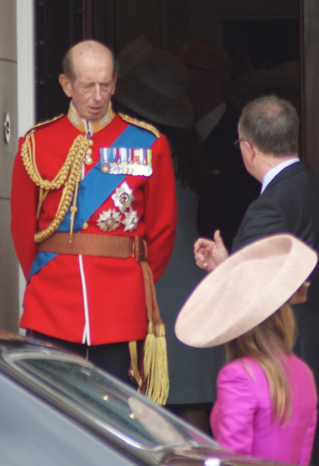 Duke of Kent  leaving Buckingham Palace 2014