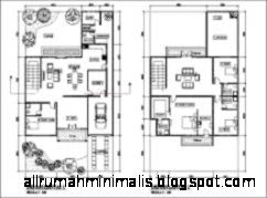 Contoh Denah Rumah Tinggal Minimalis beserta contoh denah rumah