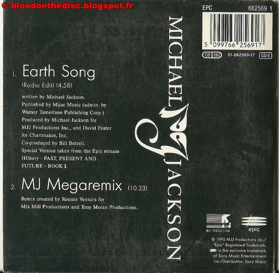 Pochette Arrière Earth Song