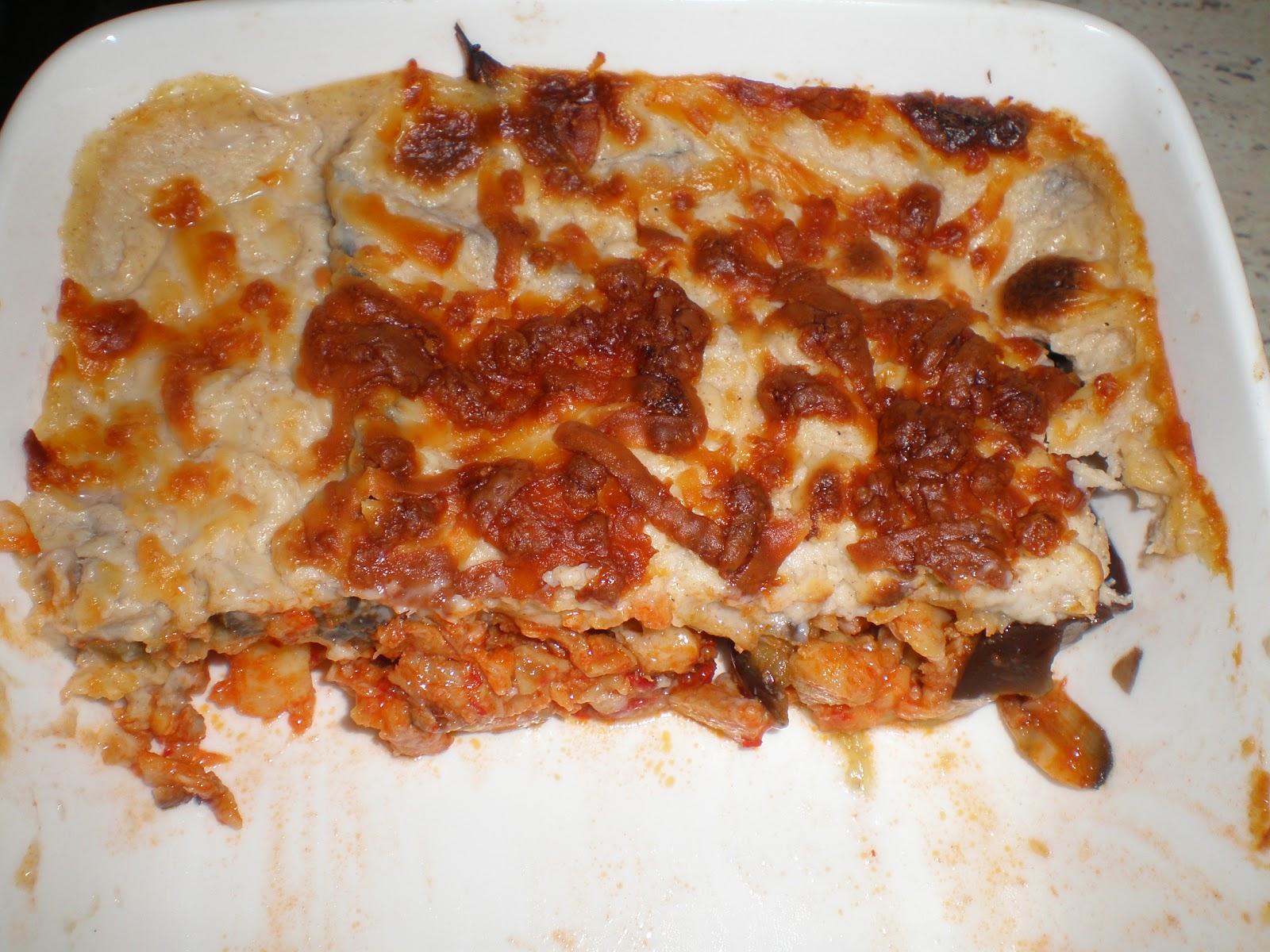 La cocinera novata lasagna de berenjenas y ajoarriero con - Queso de cabra y colesterol ...