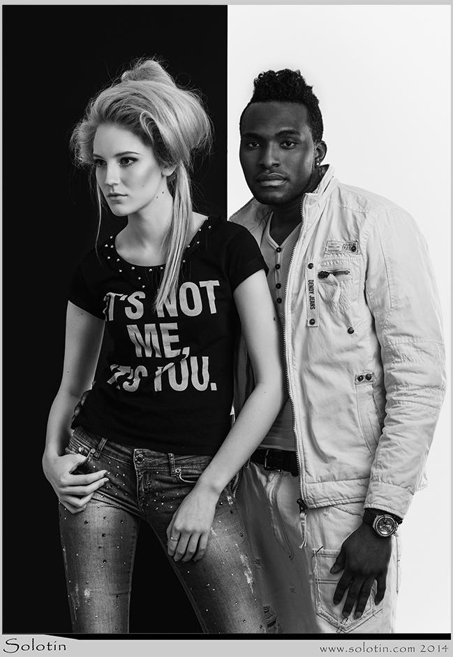 белая девушка и черный парень
