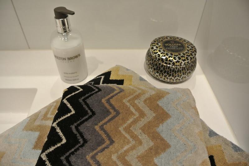 Nye Missoni Home-håndklær har flyttet inn på badet i Solveien, og  title=