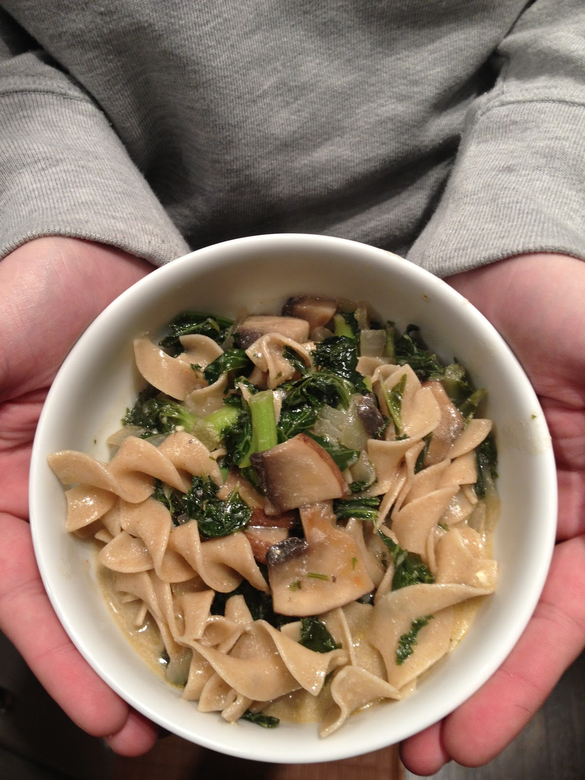 love, the porters: portobello mushroom & kale stroganoff.