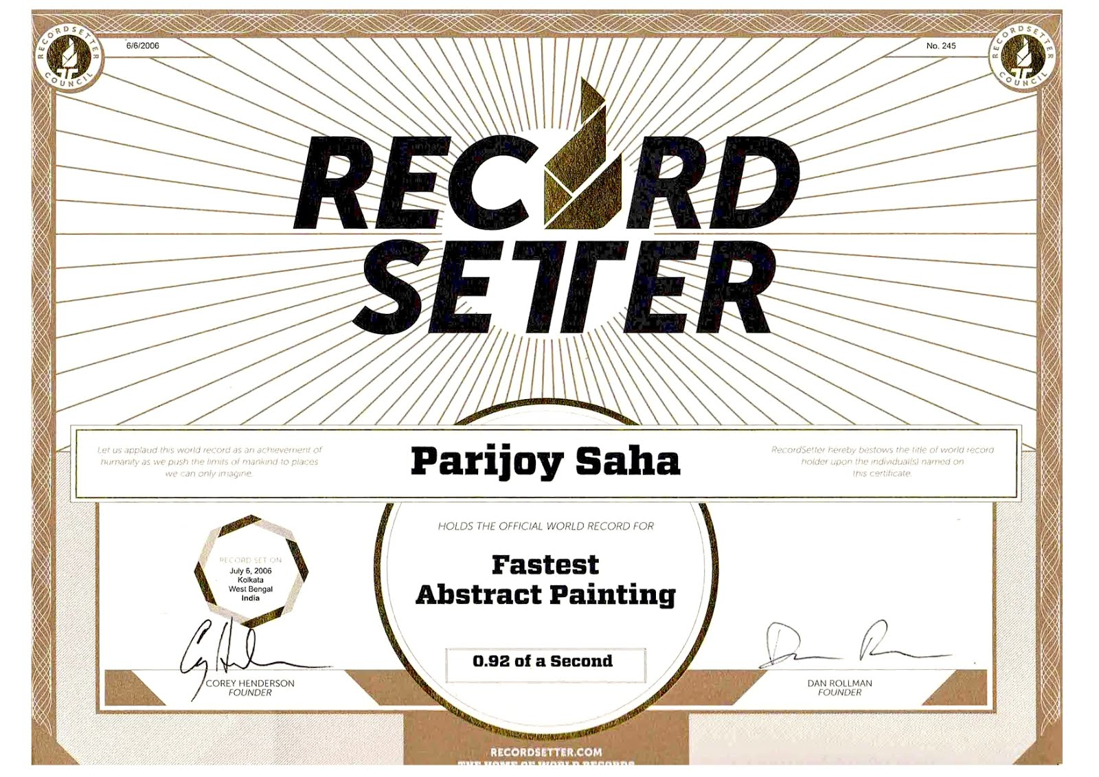 World's Fastest Painting 0.92 fraction of a Second