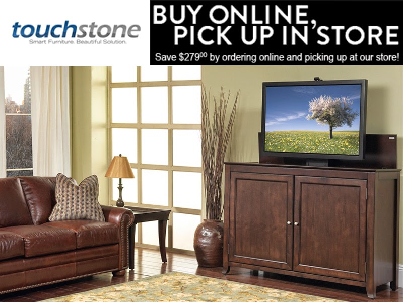 Touchstone Home Products now offers order pickup at the Exton, PA showroom. Now you can order Touchstone TV Lift Cabinets online at TouchstoneHomeProducts.com and pick up in Exton, PA.