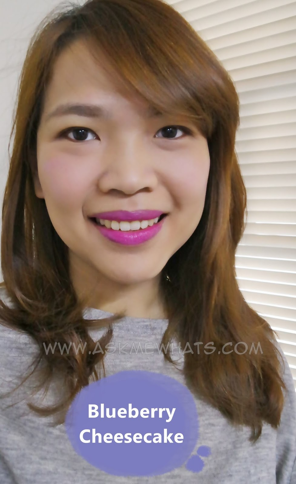Wearing  Etude House Sweet Recipe Cupcake All Over Color blueberry cheesecake