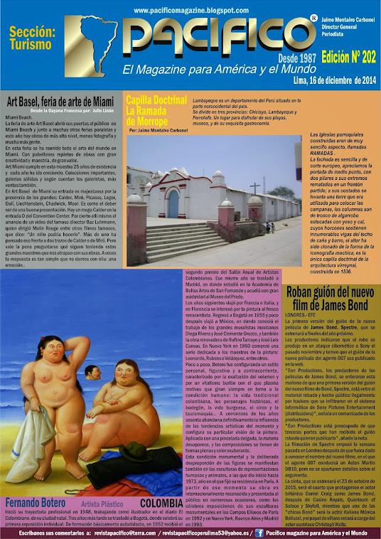 Revista Pacífico Nº 202 Turismo