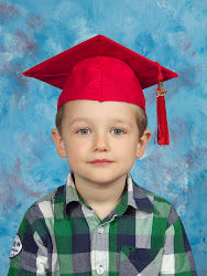 Sean in his preschool graduation cap