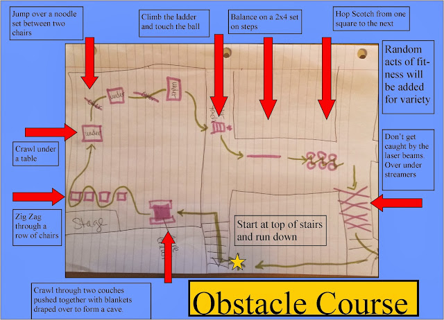 Indoor obstacle course, church obstacle course, obstacle course