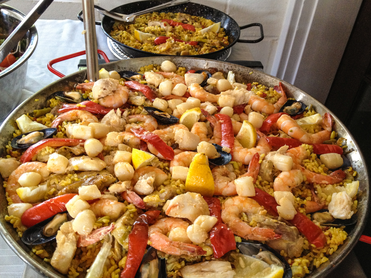 Real Paella with saffron rice