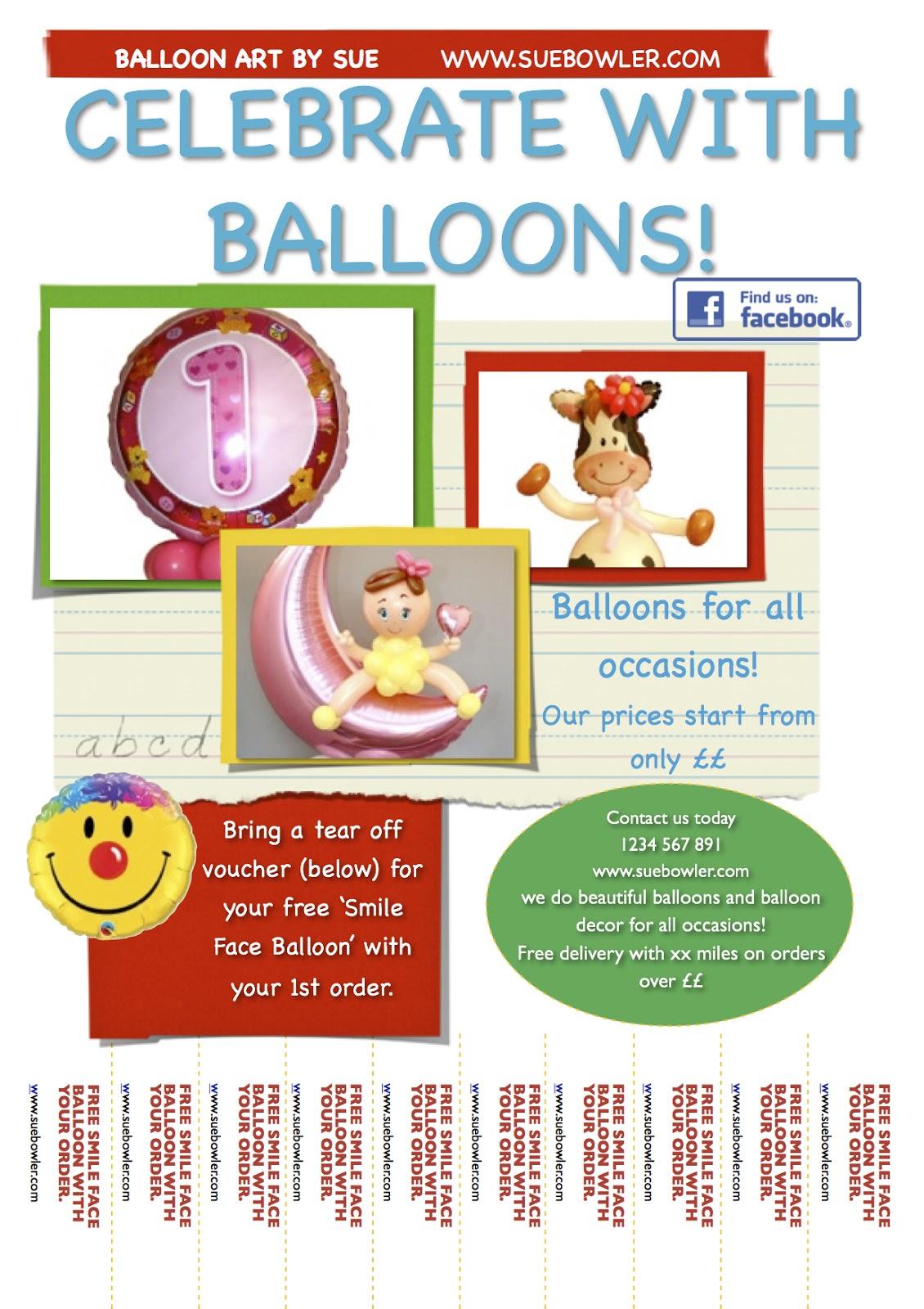 The Very Best Balloon Blog Shoestring Marketing Tear Off Fliers – Tear off Flyer Template