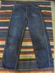 early 50's Lee DENIM PAINTER PANTS 34×33