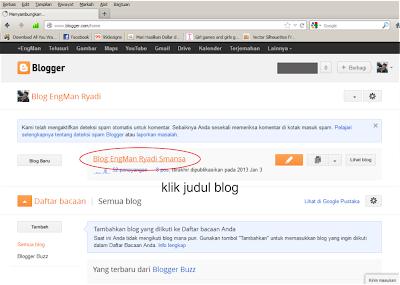 cara posting di blogger