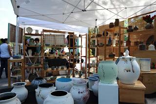 Lori Buff pottery at Art-b-que