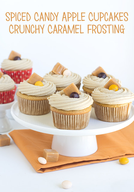 Spiced Candy Apple Cupcakes and Crunchy Caramel Frosting | Cookie ...
