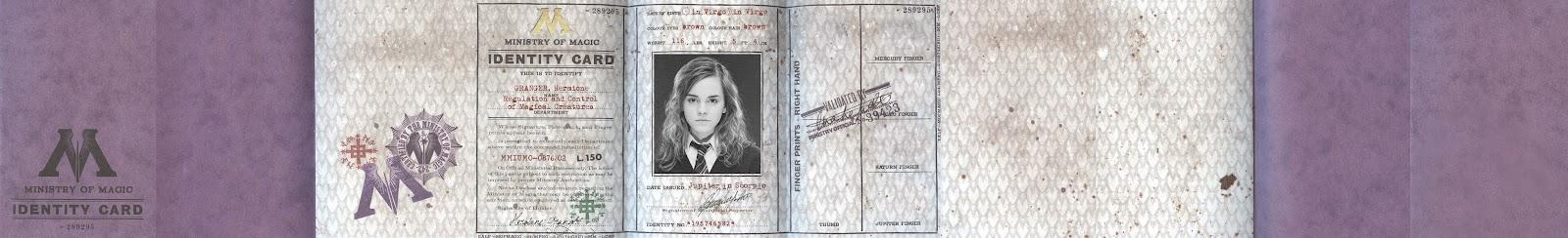 heres my customized hermione granger mom id cardbooklet