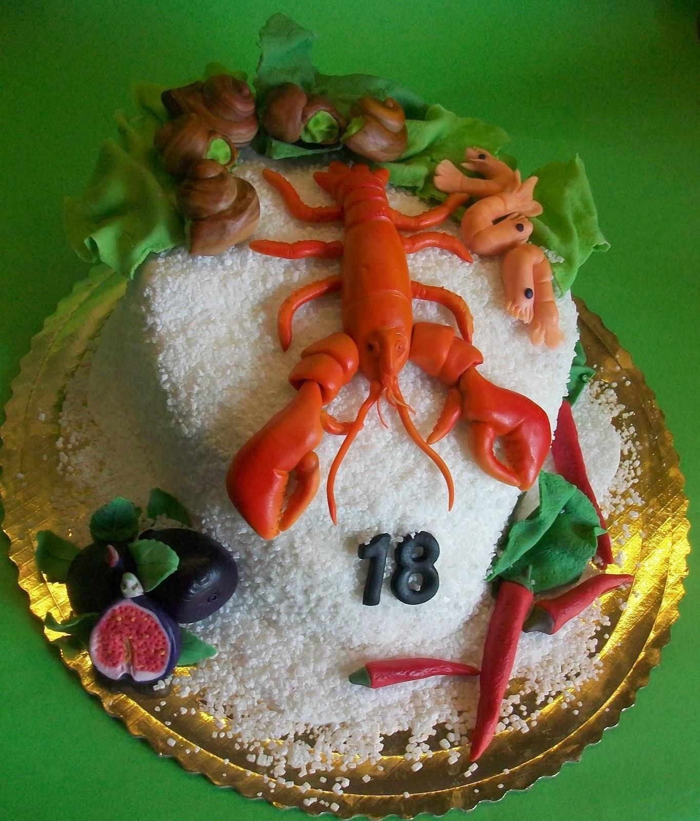 tort z owocami morza