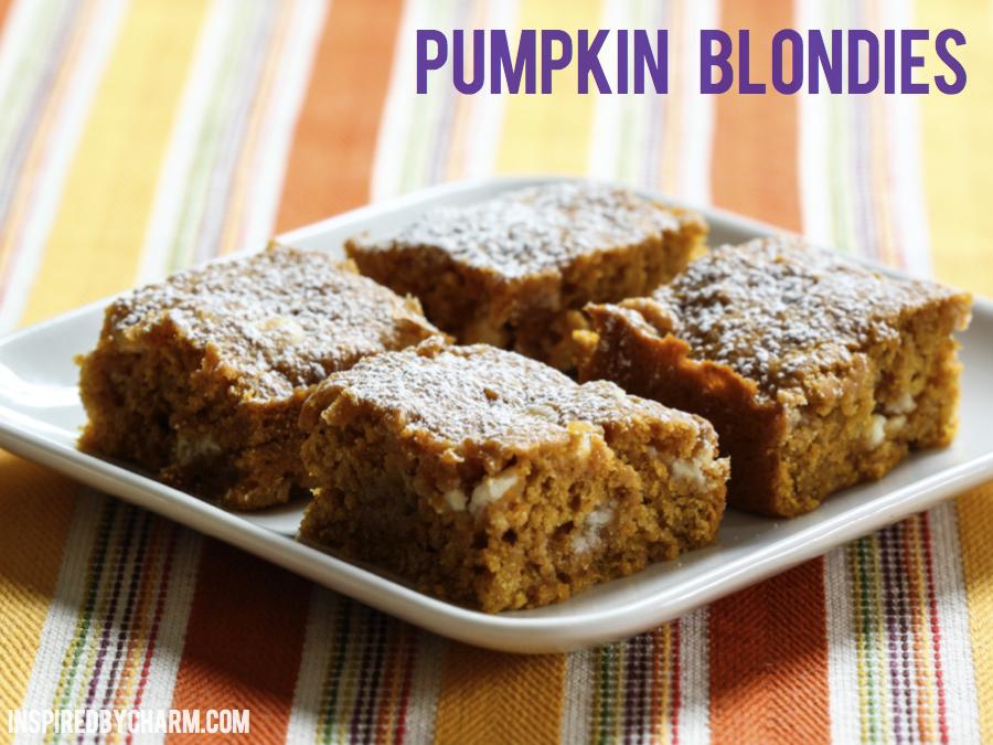 Pumpkin Blondies - Inspired by Charm