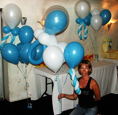 Balloon Decorating Ideas For Baby Showers Party Favors