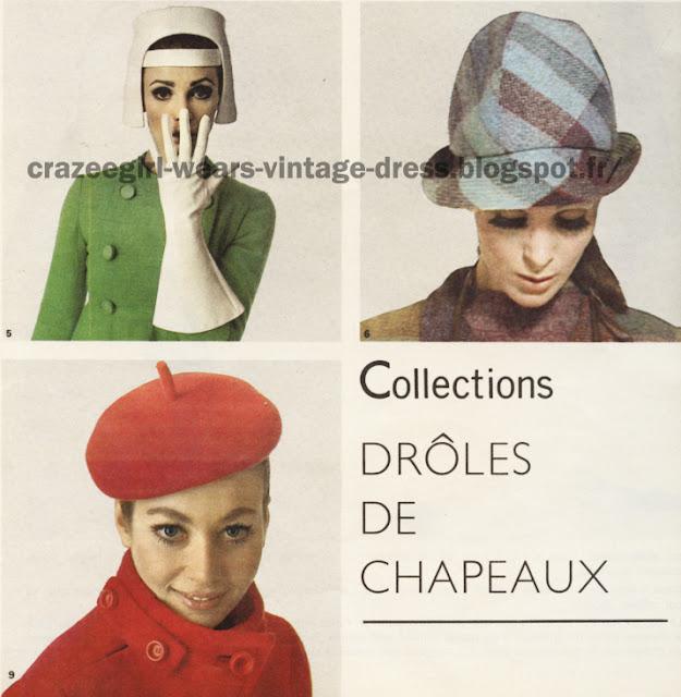 Jacques Heim Ted Lapidus Christian Dior 1966 Hat 60s 1960 mod beret cap