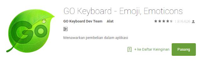 Salah satu aplikasi terpopuler untuk keyboard android