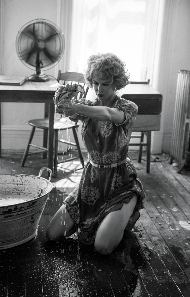 Nicole Kidman en blanco y negro