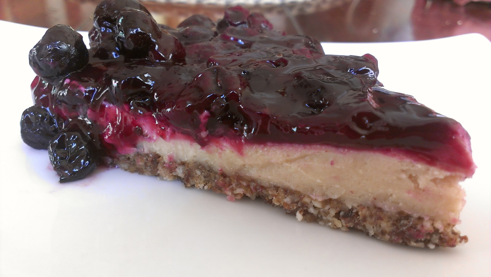 Vegan Cheesecake with Blueberry Topping - Mostly Raw! | Care2 Share