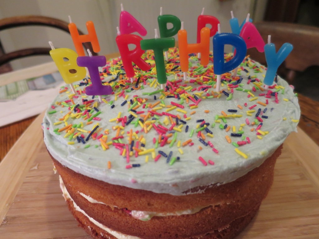 Easy Vanilla Birthday Cake Funfetti Icing Recipe
