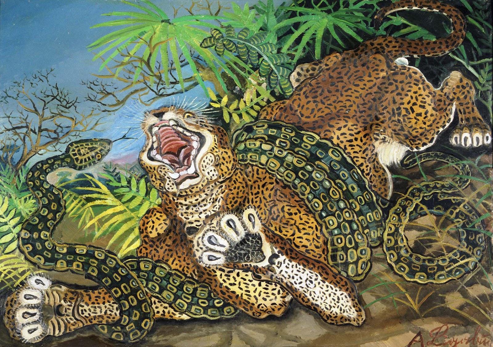 uomo tigre da color are