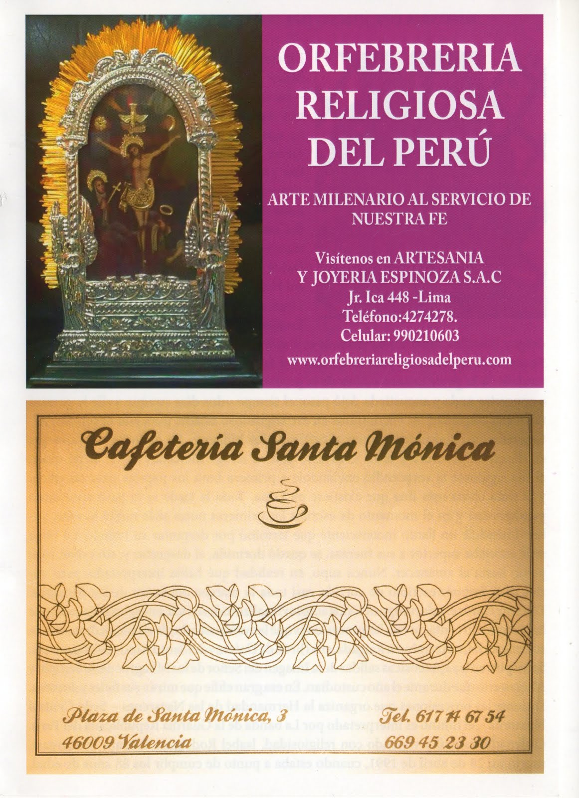 Orfebrería Religiosa del Perú