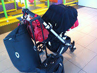 solo parent air travel tips, bugaboo, snoozeshade, family travel