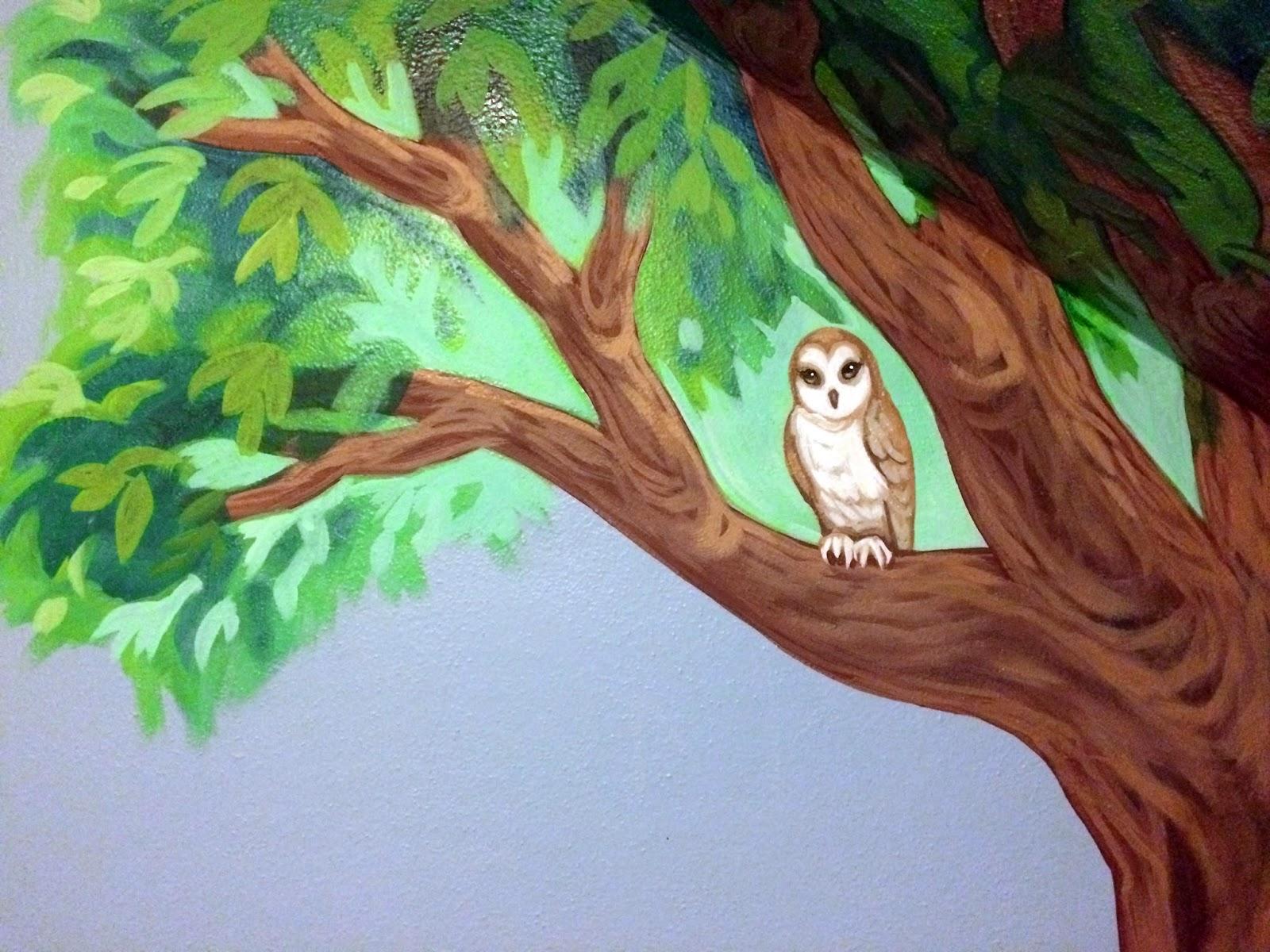 nursery mural, tree mural in nursery, baby room mural, kids room mural, nursery mural portland, portland muralist, portland kids room mural