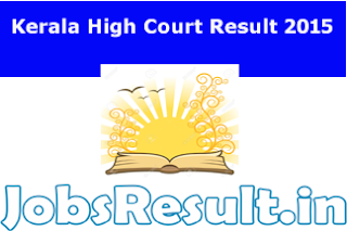 Kerala High Court Result 2015