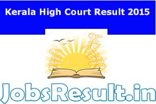 Kerala High Court Result 2015