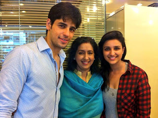 Parineeti & Siddarth on the set of  Hasee Toh Phasee‬ in Bhuleshwar