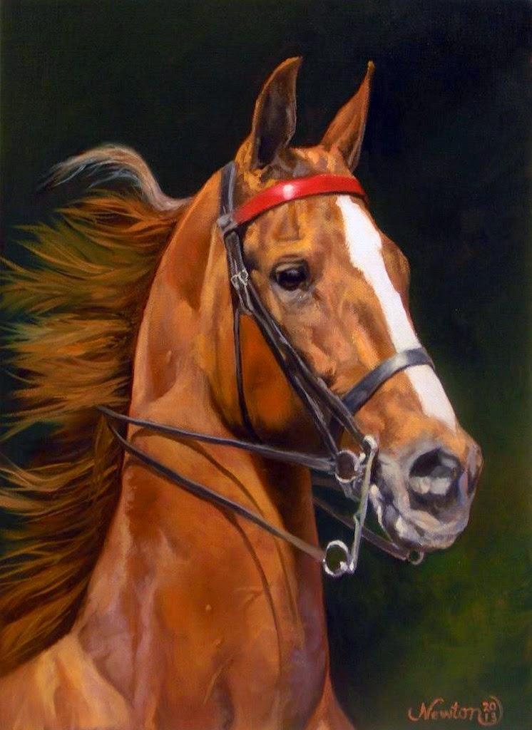 pinturas-de-hermosos-caballos-en-arte-realista