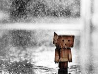Tears drop in the rain