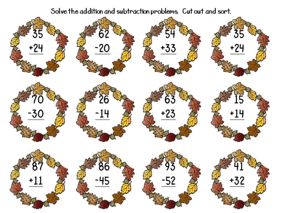 ... with Mrs. Lemons: 2 Digit Subtraction Without Regrouping FREEBIES