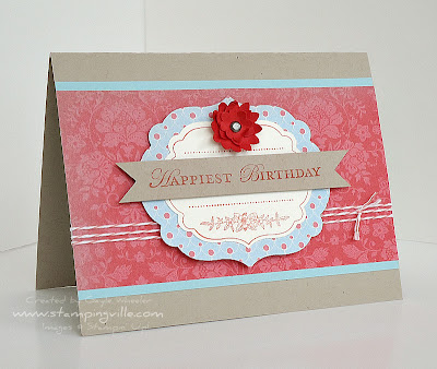 Vintage Birthday Card Idea with Stampin' Up! Apothecary Art Stamp Set
