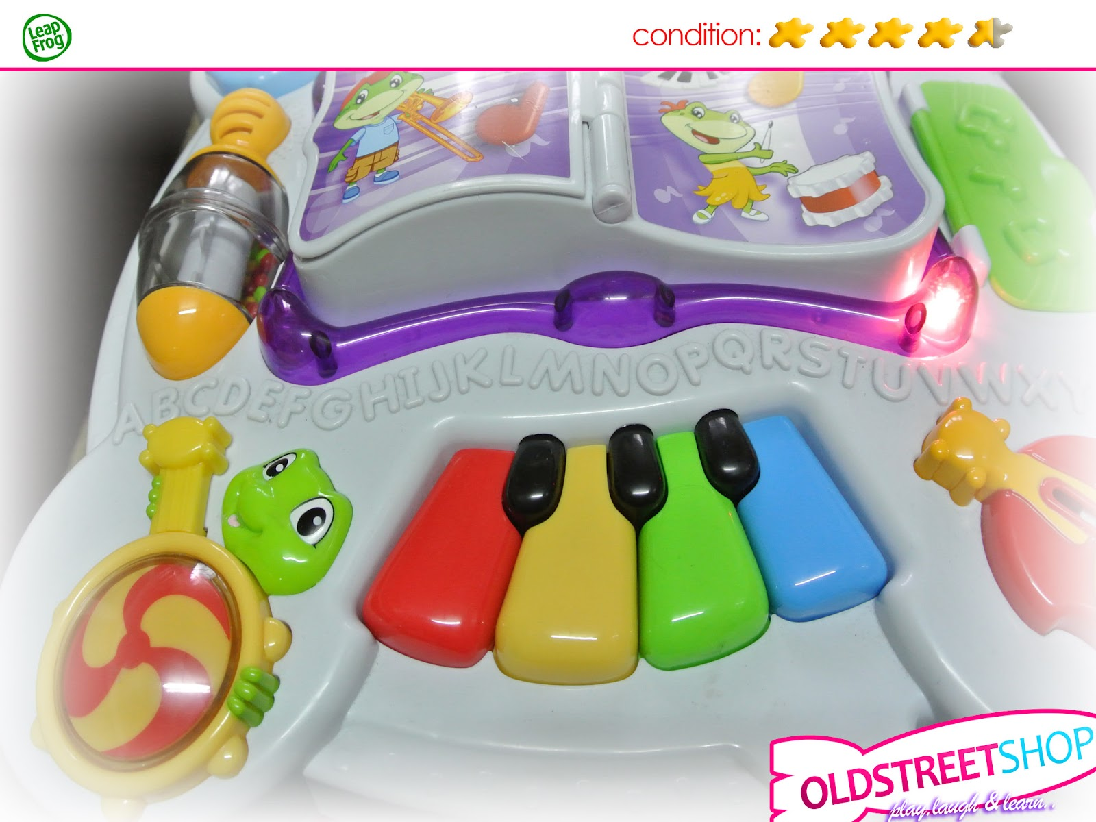 Oldstreetshop Leapfrog Learn Groove Pink Learning Table