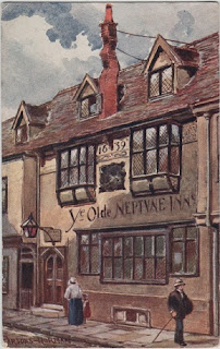 Vintage postcard of Ye Olde Neptune Inn, Ipswich, Suffolk, by the artist Parsons-Norman