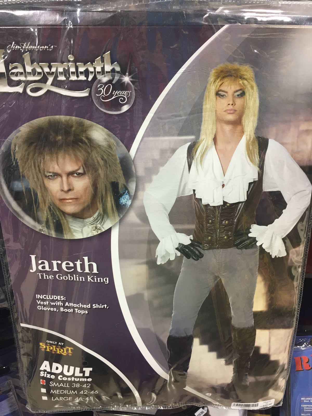as part of the films 30th anniversary spirit halloween pop up stores have an official labyrinth jareth costume