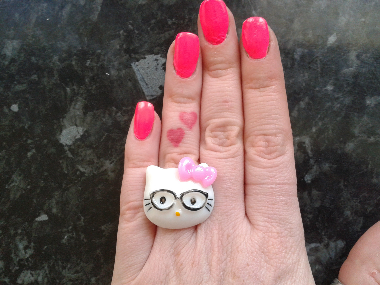 now you may glamorize the lovers tips of the fingertips creating these kinds of seem to be amazingly obvious while using stylishly stylish band where the - Hello Kitty Wedding Ring
