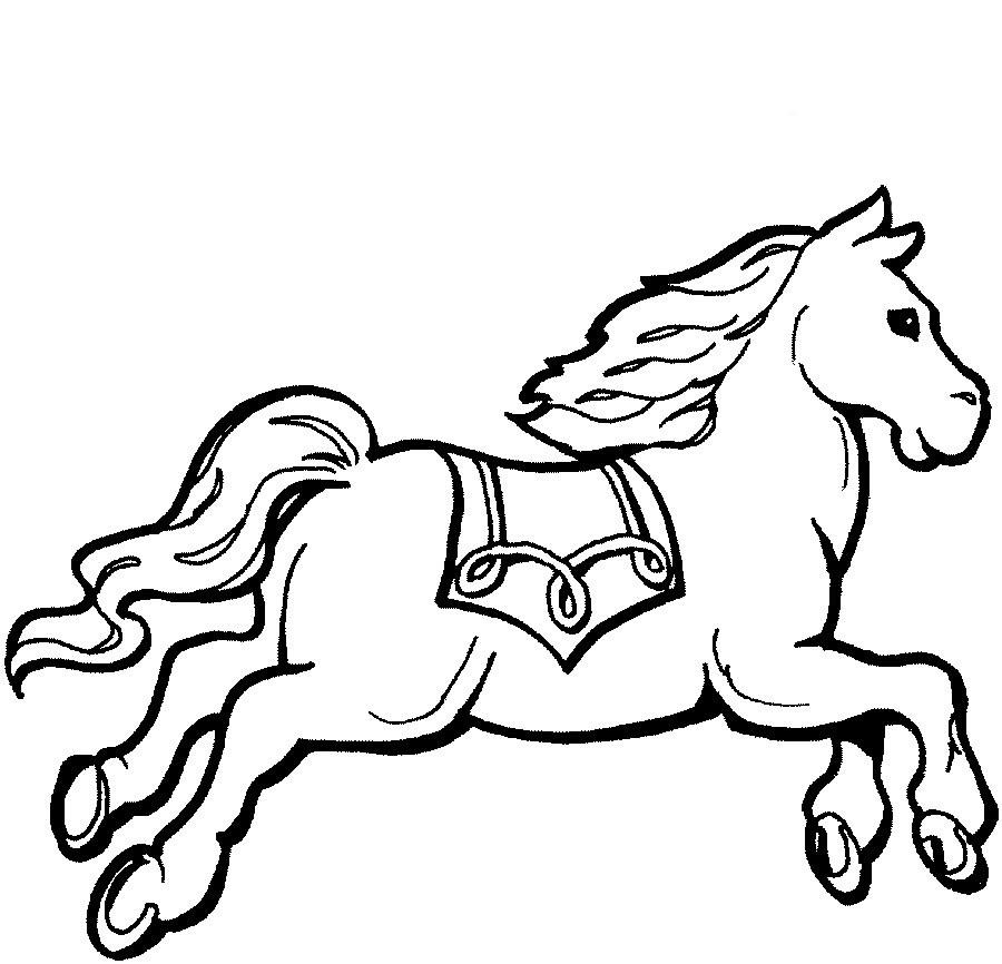 Desenhos Para Colorir De Cavalos   Cartoon