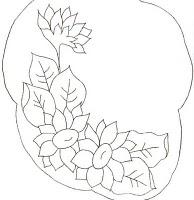 desenho de girassol