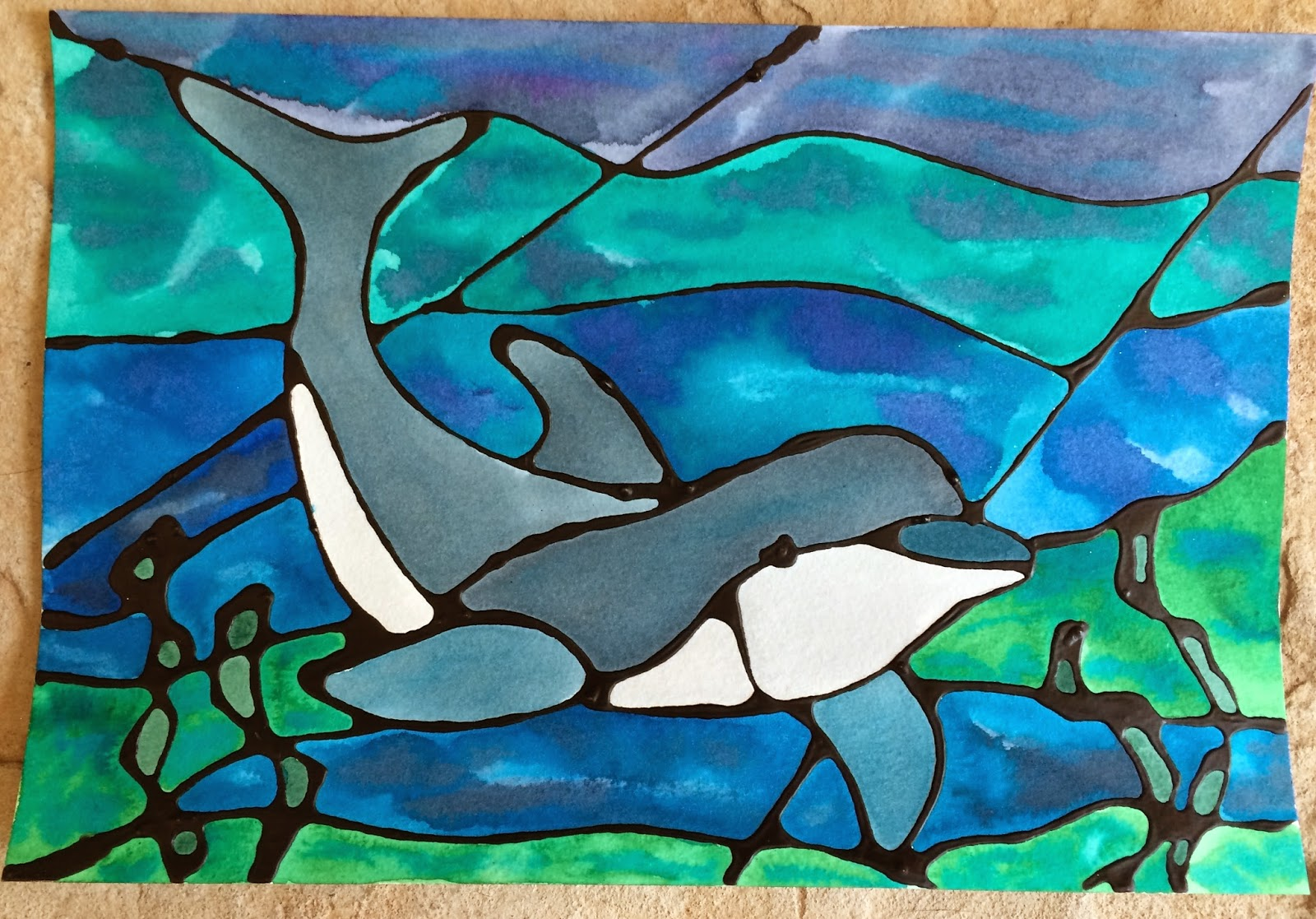 Kathy S Angelnik Designs Art Project Ideas Ocean Stained Glass