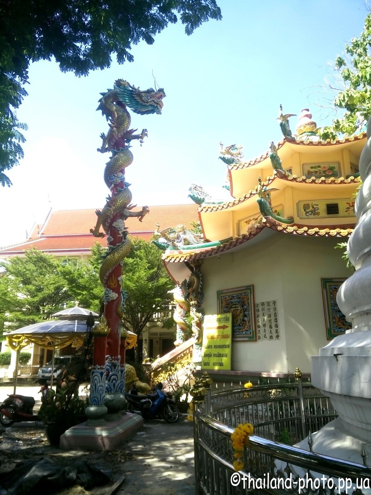 Территория буддийского храма