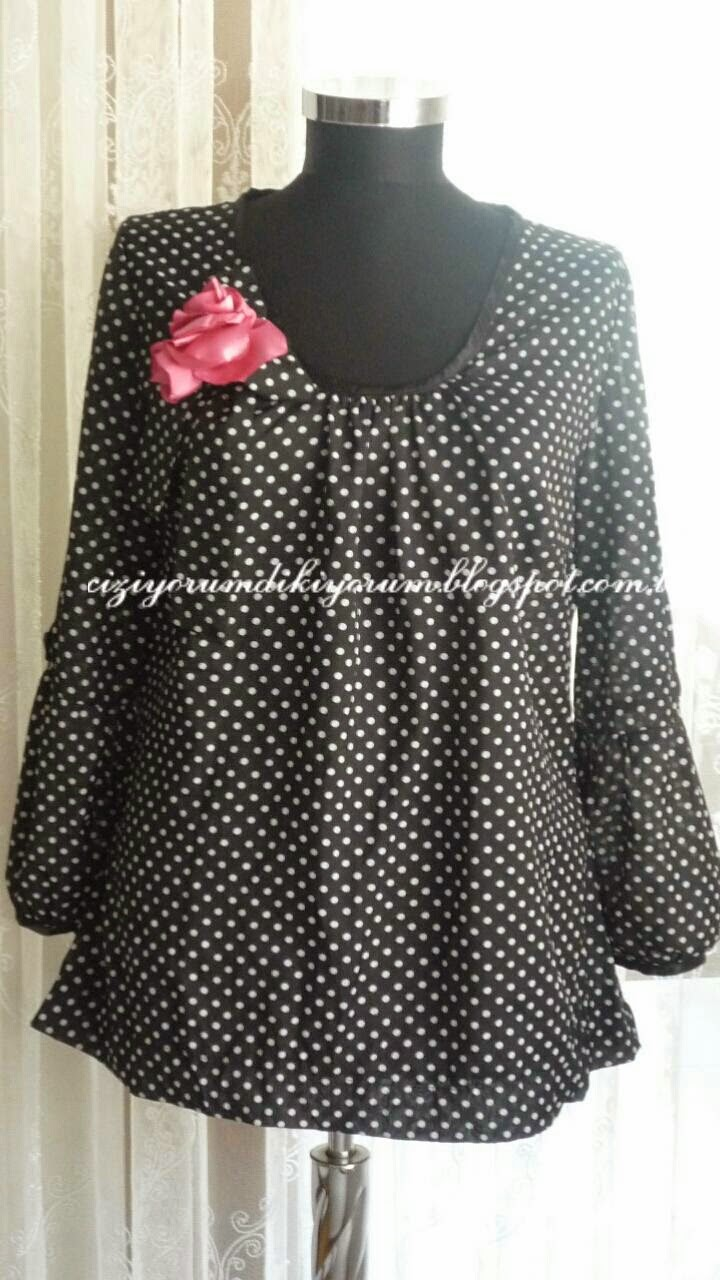 spotty blouse
